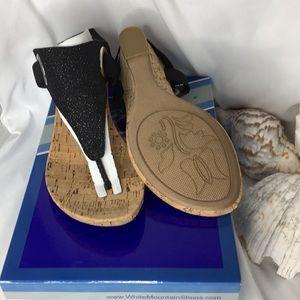 New White mountain cork heeled Sandals(never worn)
